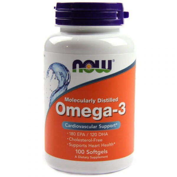 Now Omega-3 Fish Oil 1000 mg 300 mg 100 caps