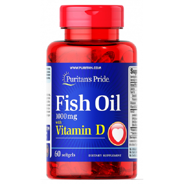 Fish oil 1000 mg with Vitamin D