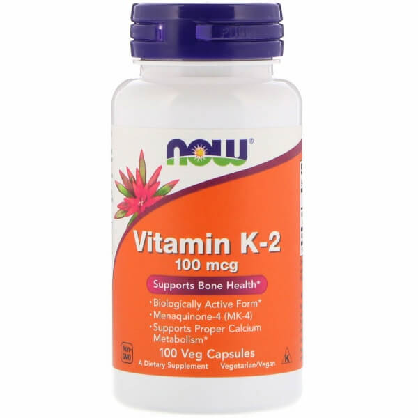 Now Vitamin K-2 100 mcg Caps